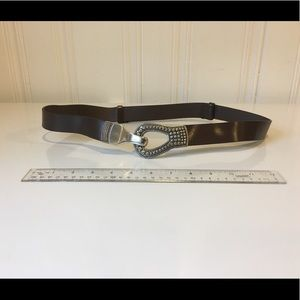 Chico's brown leather belt size M/L